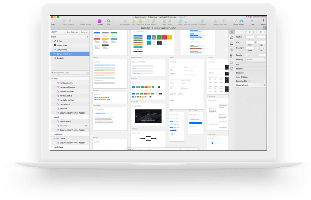 Bootstrap For Sketch Sketch 69 Smart Layout Bootsketch